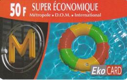 TARJETA DE REUNION DE 50 FRANCS DE EKO CARD (OUTREMER)