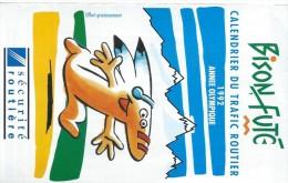 Calendrier De Poche à 3 Volets/Bison Futé/Calendrier Du Trafic Routier/Sécurité Routiére/AnnéeOlympique /1992    CAL306 - Calendriers