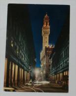 FIRENZE Di Notte - Palazzo Vecchio - Galleria Uffizi - Auto - 1970 - Firenze (Florence)