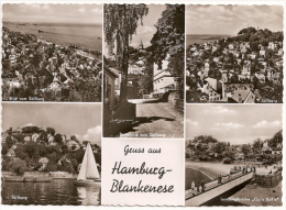 Hamburg Blankenese - S/w Mehrbildkarte 6 - Blankenese