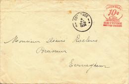 320/24 - BRASSERIE Belgique - IMPRIME Affr. Mécanique Echo D´ OSTENDE 1934 Vers Le Brasseur Roelens à EERNEGHEM - Biere