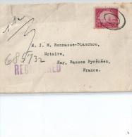 Enveloppe   Au   Depart  De   NEW YORK     ( Etats Unis )  à  Destination   De  NAY   ( 64 ) - Amérique Centrale