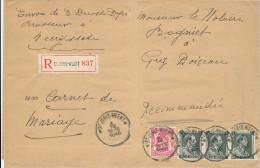 321/24 - BRASSERIE Belgique - Lettre 1940 Recommandée Du Brasseur Decoster à NEERIJSE Via ST JORIS WEERT - Biere