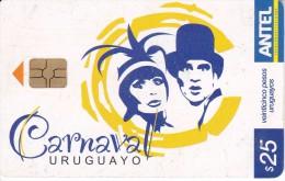 Nº 482a TARJETA DE URUGUAY DEL CARNAVAL URUGUAYO CATEGORIA REVISTA - Uruguay