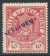 1075 - DELEMONT Fiskalmarke Mit SPECIMEN - Fiscaux