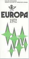 Feuillet N° 8 De 1972 - Poste Belge - Belgium - Europa - Documents De La Poste