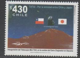 CHILE ,2010 ,MNH, FRIENSHIP WITH JAPAN, ASTRONOMY, TELESCOPE, MOUNTAINS, 1v - Astrology