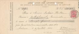 325/24 - BRASSERIE Belgique - Reçu 1920 Du Brasseur Dubois à AUDEGEM - Ecole De Brasserie De LOUVAIN - Bières
