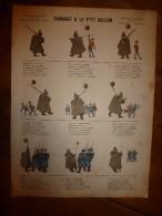 V. 1892 IMAGE D'EPINAL :n°130 DUMANET ET LE P'TIT BALLON :Histoires & Scènes Humoristiques.,Contes Moraux & Merveilleux - Vieux Papiers