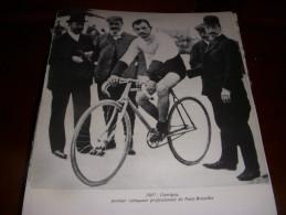 CYCLISME COUPURE LIVRE C140 PARIS BRUXELLES 1907 Gustave GARRIGOU 1er VAINQUEUR - Cyclisme