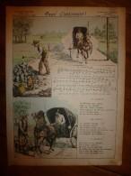 V. 1892 IMAGE D'EPINAL :n°132  PAUV' CANTONNIER :Histoires & Scènes Humoristiques,Contes Moraux & Merveilleux - Vieux Papiers