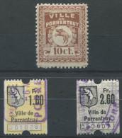 1081 - PORRENTRUY Fiskalmarken - Fiscaux