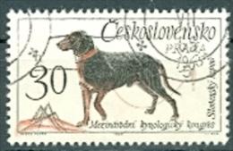 Tschechoslowakei Mi. 1542 + 1544 Gest. Kynologischer Kongress Hunde Jagdhund + Vorstehhund Mit Fasan - Cani