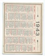 Calendrier De Poche Recto-Verso /1943      CAL311 - Calendriers