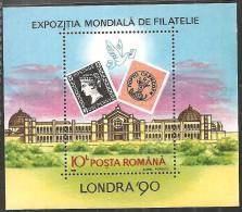 Romania 1990 BF Nuovo** - Mi.261  Yv.208 - Blocchi & Foglietti