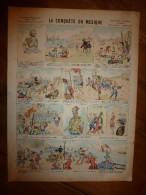 V. 1892 IMAGE D'EPINAL :n°134 LA CONQUÊTE DU MEXIQUE :Histoires & Scènes Humoristiques,Contes Moraux & Merveilleux - Vieux Papiers