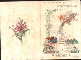 Parfum ANEMONIS - G. LEMOINE Parfumeur, Paris - CALENDRIER 1928 - Carte Parfumée - Vintage (until 1960)