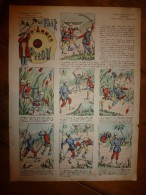 V. 1892 IMAGE D'EPINAL :n°136 LE FAIT D'ARMES DE PITOU :Histoires & Scènes Humoristiques,Contes Moraux & Merveilleux - Vieux Papiers