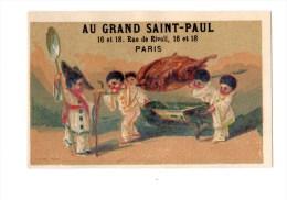 Chromo Imp. APPEL Pour Grand Saint-Paul, Pierrots, Cusiniers - Chromos