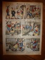 1892 IMAGE D'EPINAL :n°138 MONNAIE DE SINGE :Histoires & Scènes Humoristiques,Contes Moraux & Merveilleux - Vieux Papiers