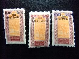 HAUTE-VOLTA REPUBLIQUE ALTO VOLTA 1922 Yvert Nº 18 /20 * MH - Obervolta (1920-1932)