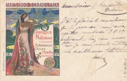 338/24 - Belgique ARMES / VELO - Carte Illustrée De La F.N. à HERSTAL - Expo PARIS 1900 - Agence De NAMUR - Timbres