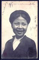 CPA ANCIENNE-INDOCHINE- TONKIN- HANOÏ- LA RIEUSE AUX DENTS NOIRES- TRES GROS PLAN - Vietnam