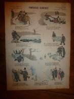 1892 IMAGE D'EPINAL :n°144  FANTAISIE GLACIALE :Histoires & Scènes Humoristiques,Contes Moraux & Merveilleux - Vieux Papiers