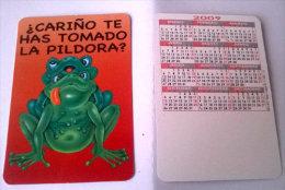 CALENDARIOS DE BOLSILLO -CHISTOSOS-5  AÑO 2009 - Calendarios