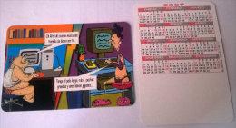 CALENDARIOS DE BOLSILLO -CHISTOSOS-9  AÑO 2009 - Calendarios
