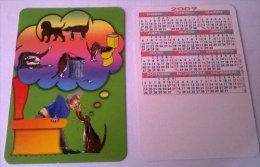 CALENDARIOS DE BOLSILLO -CHISTOSOS-12  AÑO 2009 - Calendarios