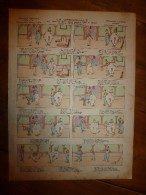 1892 IMAGE D'EPINAL :n°145 LA GRENOUILLE QUI VEUT SE FAIRE AUSSI GROSSE QUE LE BOEUF Sur L'air De UN JOUR MAÎTRE CORBEAU - Vieux Papiers