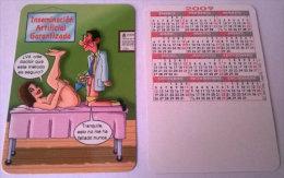 CALENDARIOS DE BOLSILLO -CHISTOSOS-31  AÑO 2009 - Calendarios