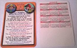 CALENDARIOS DE BOLSILLO -CHISTOSOS-38  AÑO 2009 - Calendarios