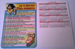 CALENDARIOS DE BOLSILLO -CHISTOSOS-41  AÑO 2009 - Calendarios