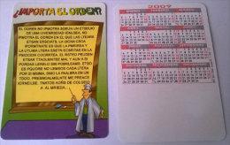 CALENDARIOS DE BOLSILLO -CHISTOSOS-54  AÑO 2009 - Calendarios