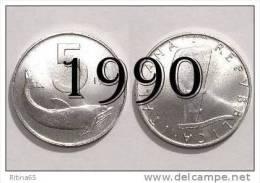 """!!! LIRE 5 1990 FDC """" DELFINO """" ITALIA !!! - 1946-… : República"""
