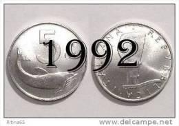 """!!! LIRE 5 1992 FDC """" DELFINO """" ITALIA !!! - 1946-… : República"""