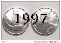 """!!! LIRE 5 1997 FDC """" DELFINO """" ITALIA !!! - 1946-… : República"""