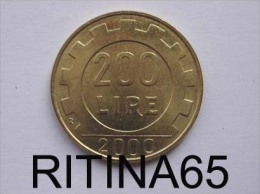 "!!! 200 LIRE 2000 FDC "" RUOTA "" !!! - 1946-… : Republic"