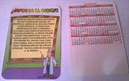 CALENDARIOS DE BOLSILLO -CHISTOSOS-63  AÑO 2009 - Calendarios
