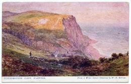 ARTIST : W.H. BORROW - ECCLESBOURNE CLIFF, HASTINGS - 1900-1949