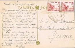 17289. Postal PINEDA De MAR (Barcelona) 1945. Vista Claustros Monasterio San Cugat Del Vallés - 1931-Aujourd'hui: II. République - ....Juan Carlos I