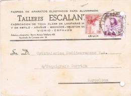 17291. Trajeta Privada IRUN (Guipuzcoa) 1949, AMBULANTE Ferrocarril - 1931-50 Cartas