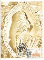 FRANCE. Abbaye De Saint-Pierre Et Saint-Paul De Cluny, Belle Carte-maximum, Obliteration CLUNY - Eglises Et Cathédrales