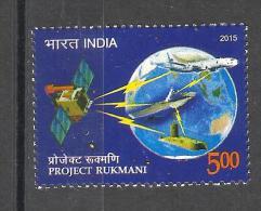 INDIA, 2015, Project Rukmani, Satellite, Space,  Globe, Aeroplane, Flight, Ship, MNH, (**) - Espace