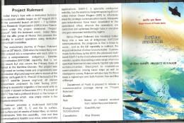 INDIA, 2015, BROCHURE WITH INFORMATION,  Project Rukmani, Satellite, Globe, Aeroplane, Flight, Ship, - Storia Postale