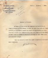 VP3629 - Tabac - Lot De Documents Des Manufactures De L´Etat & Du Ministère Au Sujet Des Inventions De Mr SCHLOESING - Documenti