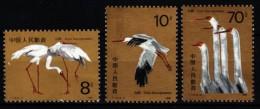 China 1986  MiNr. 2074/ 2076  **/ Mnh  Nonnenkranich - 1949 - ... République Populaire