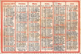 """04052 """"CALENDARIETTO 1877 - LETTRE DOM G. - EPACTE 15"""" - Formato Grande : 1981-90"""
